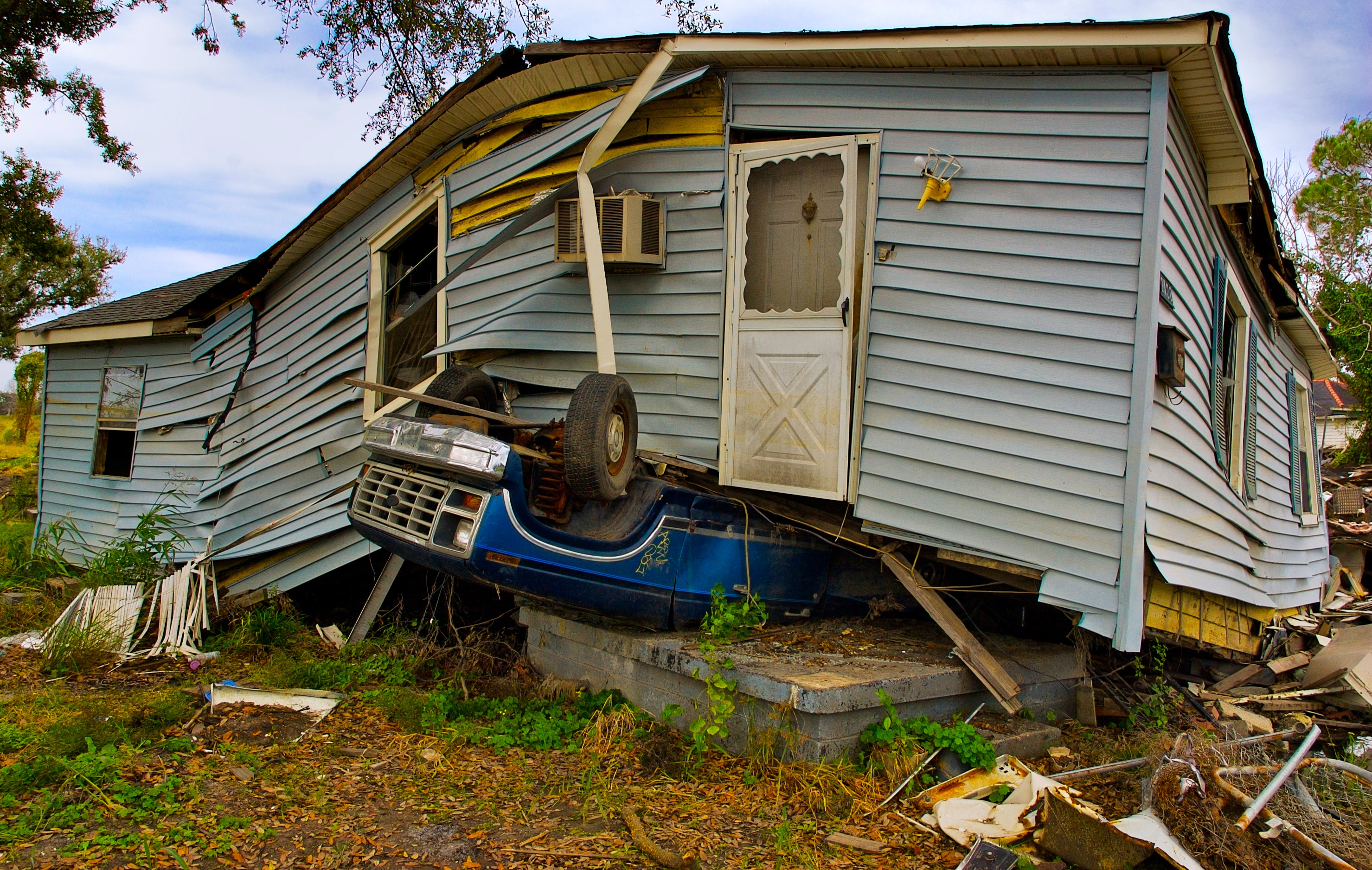 Picture of a damaged house
