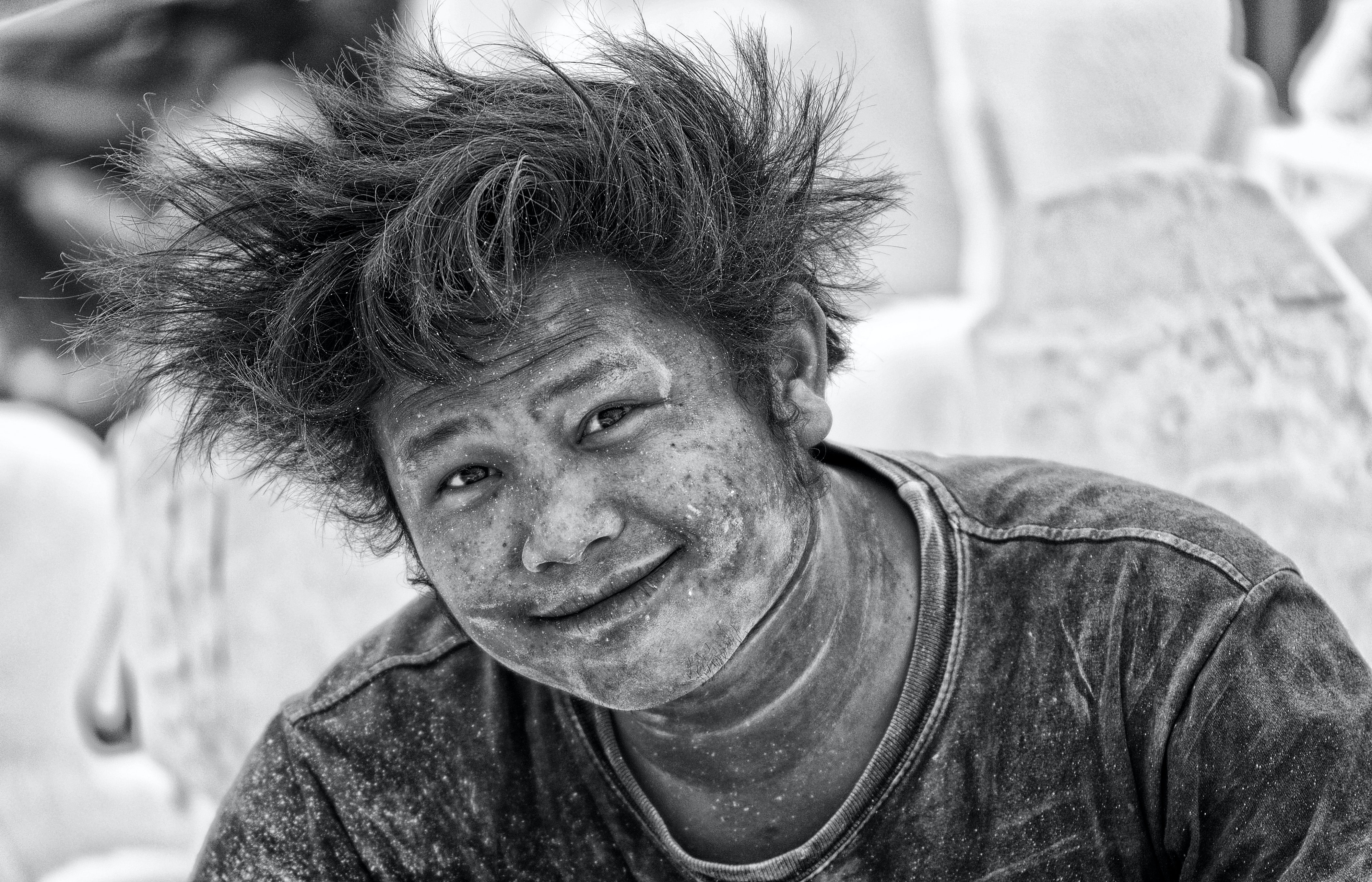 Picture of a dusty builder