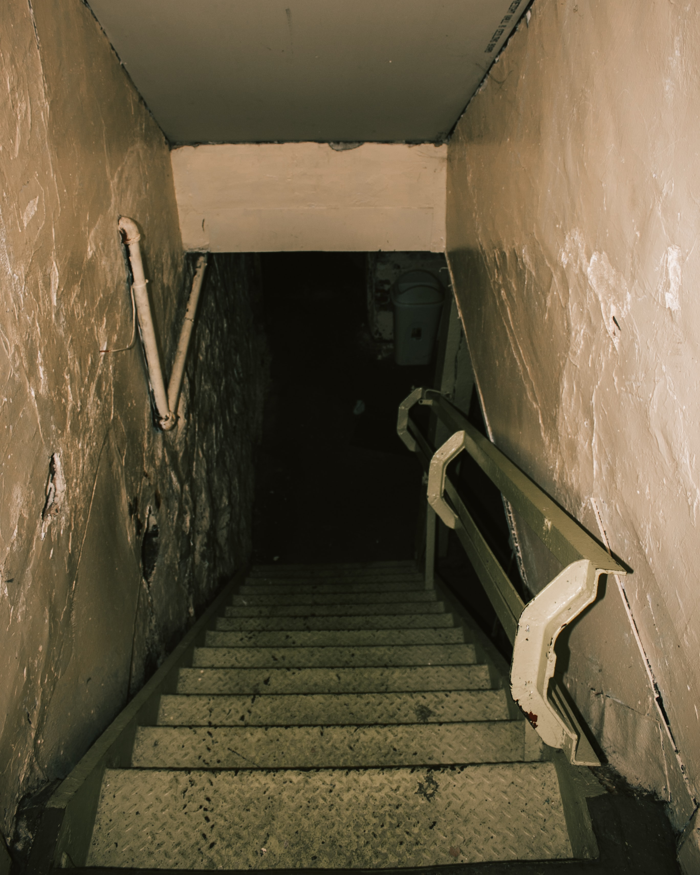 Picture of stairs leading down to a basement