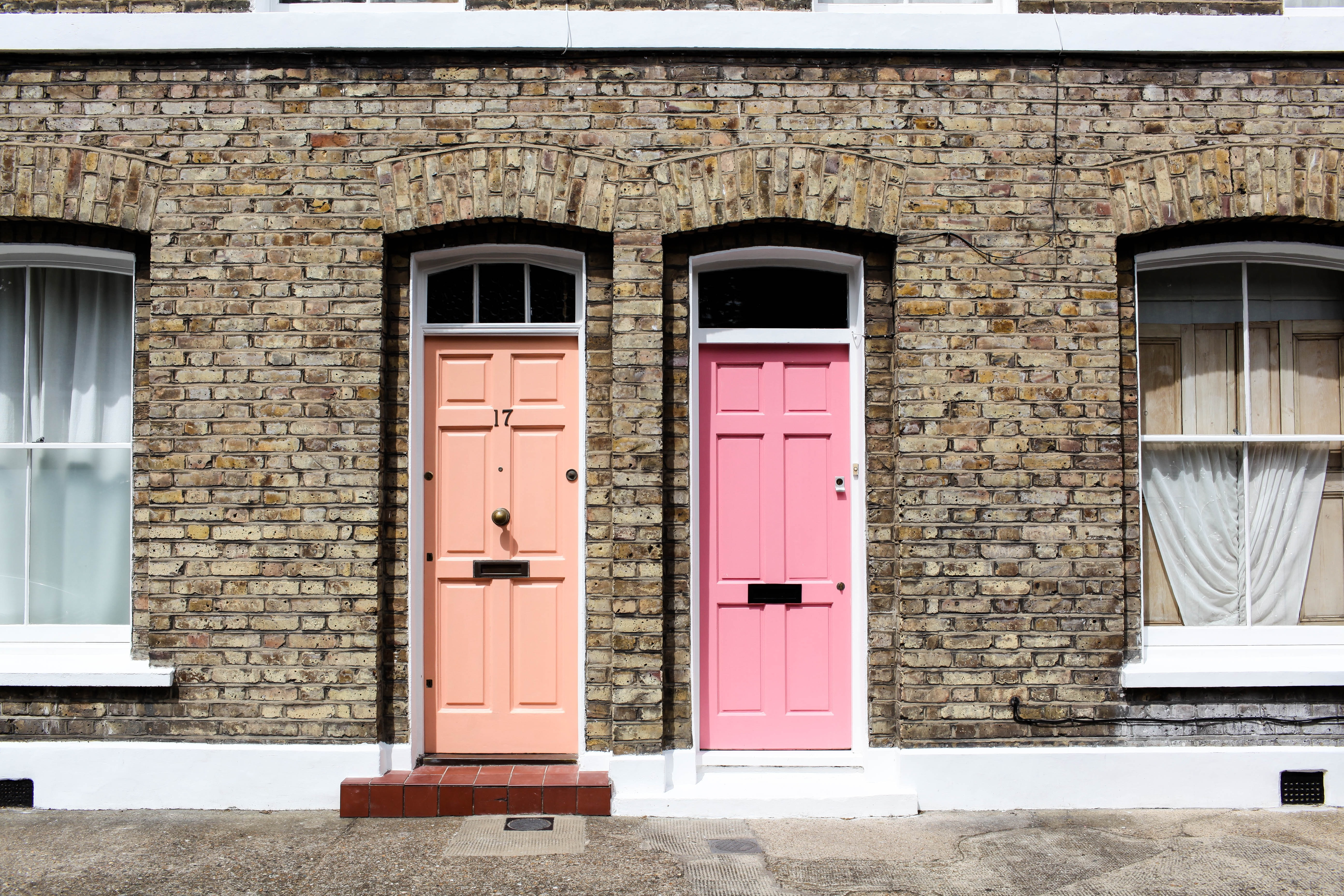 Picture of two front doors